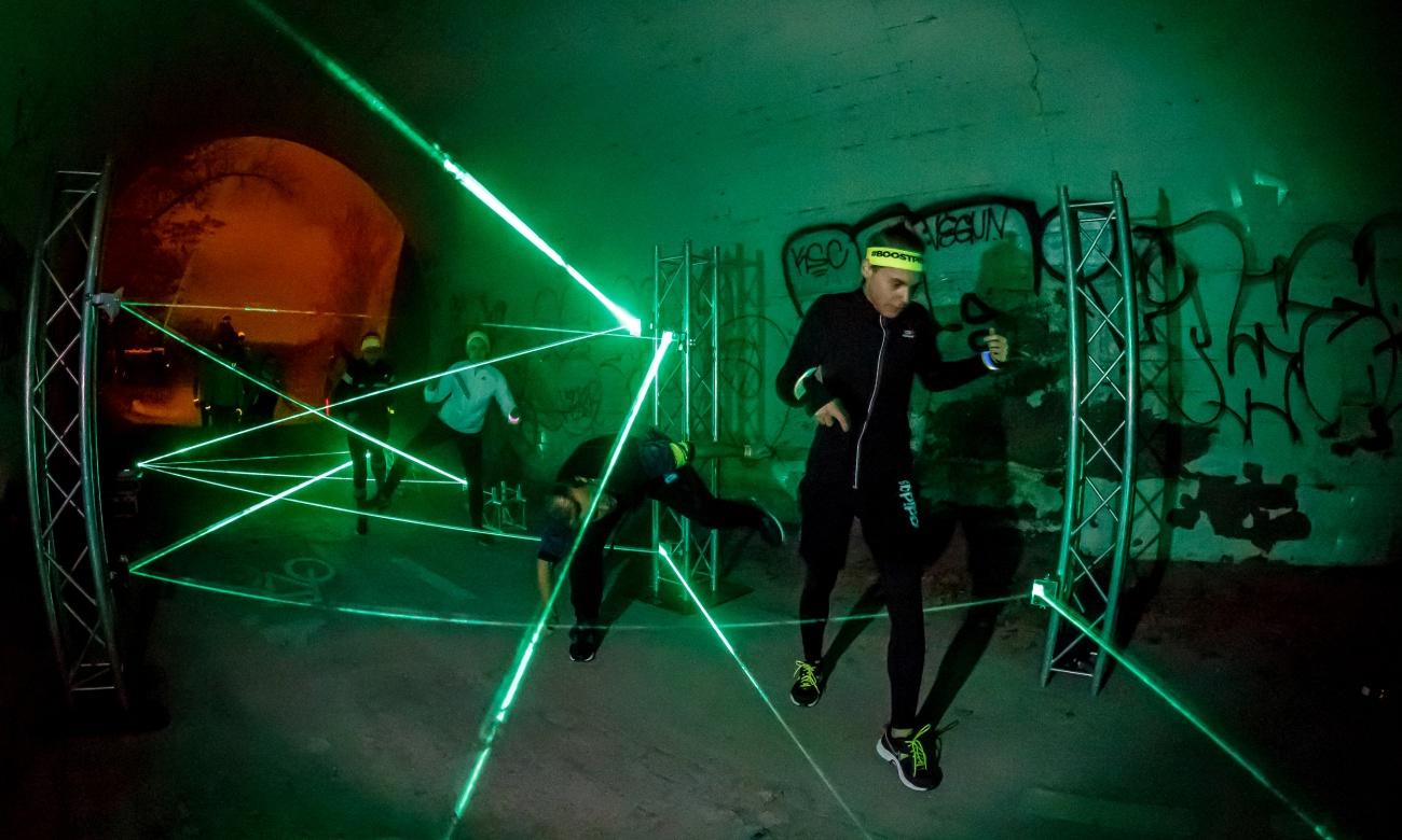 Světelný labyrint Laser Net od Event Interactive