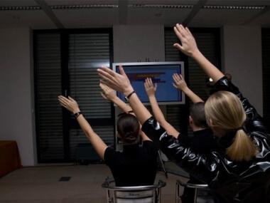 Human joystick - kolektivní zábava od Event Interactive